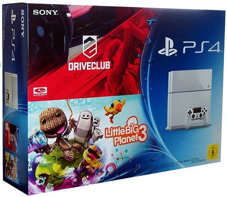 Sony Playstation 4 mit 500GB inkl. DriveClub und LittleBigPlanet 3 für 349,90€   Update