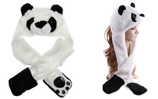 Panda Wintermütze