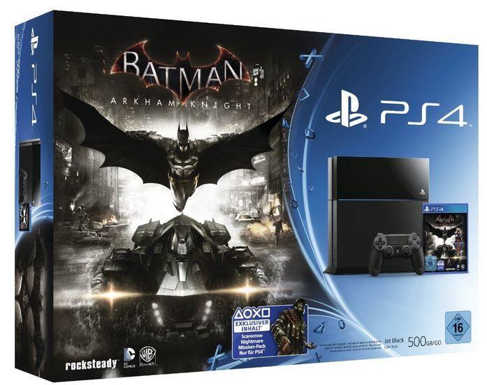 Sony PlayStation 4 500GB + Batman: Arkham Knight für 339€