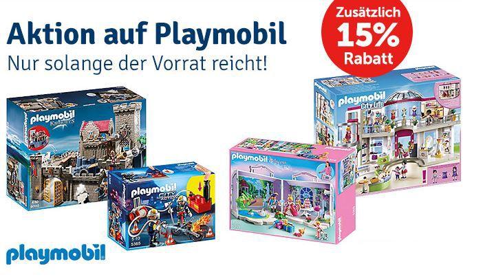 Playmobil mit 15% Rabatt ab 50€ MBW   bei MyToys