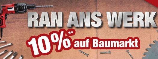 10% Rabatt auf Baumarkt Artikel bei Plus   z.B. Einhell TH CD 12 2 Li Kit mit 2. Akku für 66,56€