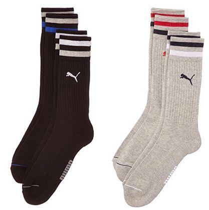 Puma Clyde Socken 2 Paar Puma Clyde Socken in verschiedenen Farben für 4,86€