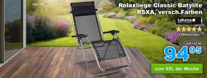 Relaxliege Nur heute: 10% Rabatt auf alles bei GartenXXL   z.B. Lafuma Relaxliege für nur 85,46€