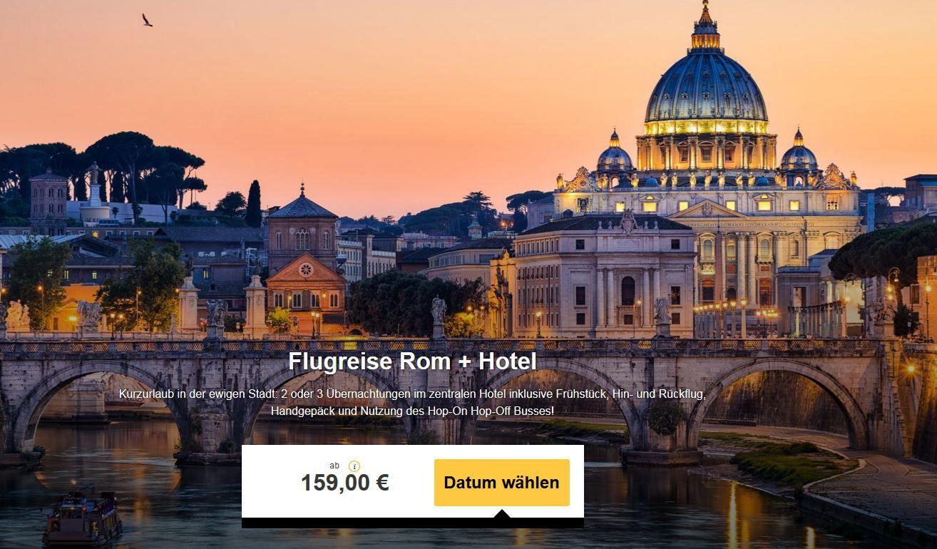 2 oder 3 Übernachtungen mit Flug im 3* Hotel Des Artistes in ROM ab 159€