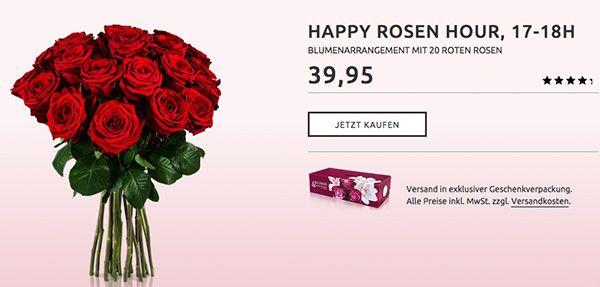 Blumenstrauß Marie mit 20 roten Rosen für nur 14,90€