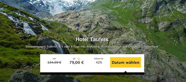 Südtirol Taufers 4, 5 oder 8 Tage Südtirol im 3 Sterne Hotel mit Frühstück und Wellnessbereich ab 79€ p.P.