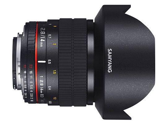 Samyang 14mm F2.8 Objektiv für Anschluss Samsung NX für 179,67€