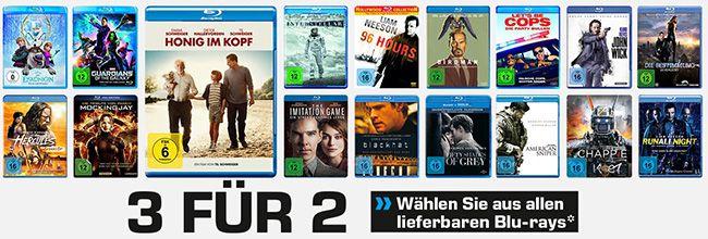 Saturn Blu ray Aktion: nimm 3, zahl 2   nur für lieferbare Filme