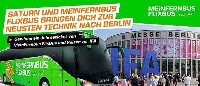 Kostenloser 3€ MeinFernbus bzw. Flixbus Gutschein bei Saturn abgreifen