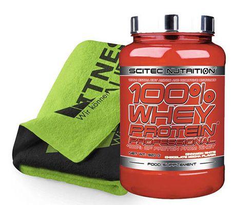 Scitec Nutrition 100% Whey Protein Professional 920g + Handtuch für 22,95€