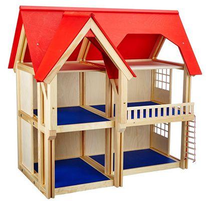 Selecta 4249 Puppenhaus mit drei Etagen für 56,30€