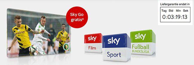 Sky Welt + 2 Pakete (z.B. Sport + Bundesliga) + Sky Go für 29,99€ monatlich über 24 Monate