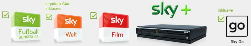 Sky Angebot1 Sky Welt + Film + BuLi + SkyGo + HD Festplattenreceiver   exlusiv mit Wunschtrikot ab 29,99€ mtl.