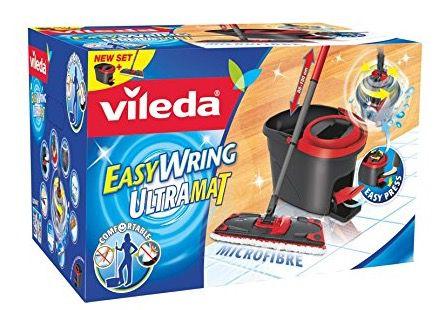 Vileda EasyWring UltraMat Set für 24,99€   Bodenwischer mit Mikrofaserbezug + Rotationseimer
