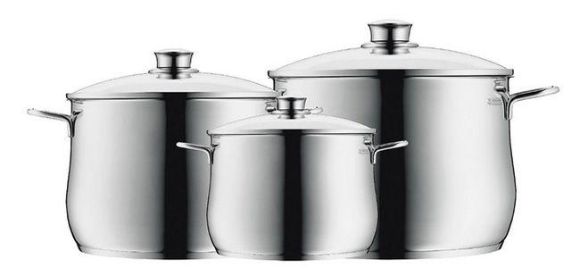 WMF 0730036040 Diadem Plus 3 teiliges Kochgeschirr Set für 49,95€