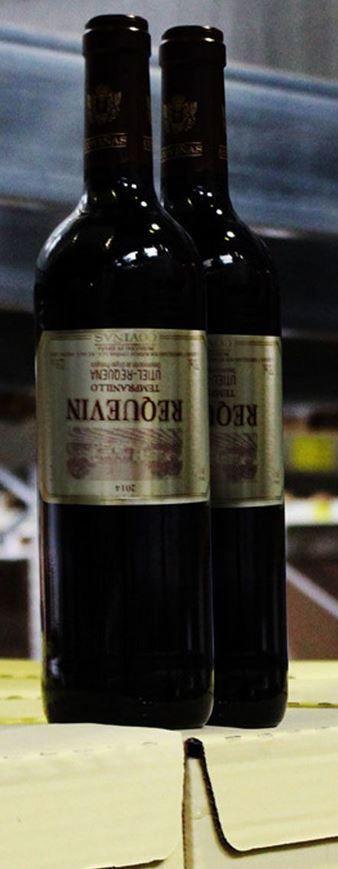6 Flaschen Bodegas Coviñas Requevin Tempranillo Rotwein   Fehlprägung für 24,44€
