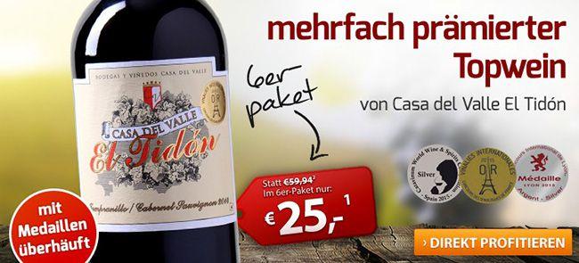 Top! 25% Rabatt auf das gesamte Weinvorteil Sortiment   auch reduzierte Weine