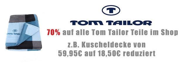 Zengoes Tom Tailor Sale Zengoes mit 70% Rabatt auf alle Tom Tailor Teile + 5€ Gutschein ab 30€ MBW