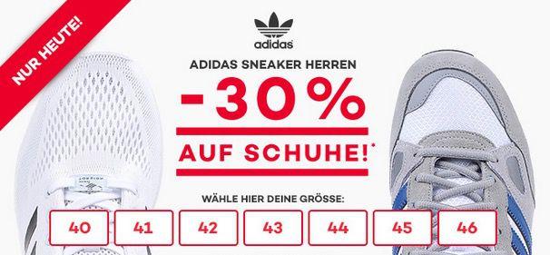 adidas Sneaker Aktion 30% Rabatt auf adidas Sneaker bei Planet Sports + 30€ Gutschein ab 150€