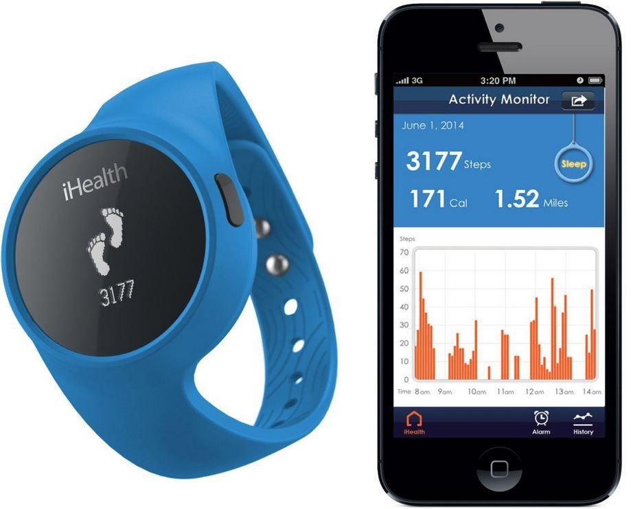 iHealth   Bluetooth Fitness  und Schlaftracker nur heute für 33,50€