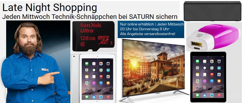 APPLE iPad Air 2 64GB statt 524€ ab 494€ im Saturn Late Night Shopping