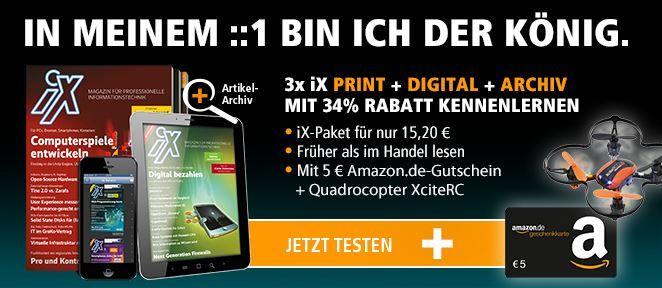 iX Informatik Magazin   3 Monate als print und digital + Quadrocopter für effektiv 10,20€