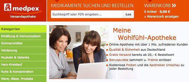 medpex Versandapotheke: 5€ Rabatt ab 15€ + VSK frei ab 20€