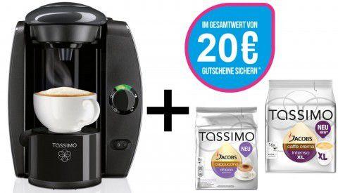 TASSIMO T4 + 20€ Gutschein + 2x TDiscs für 29€