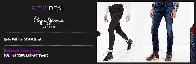 120€ Pepe Jeans Gutschein für nur 60€ bei vente privee