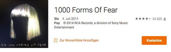 Sia   1000 Forms Of Fear Album kostenlos als Download