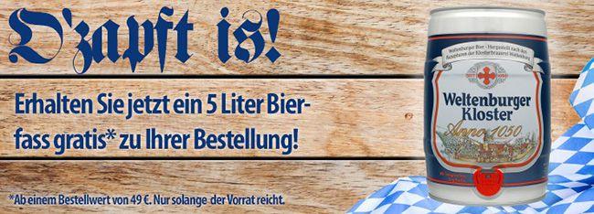 5 Liter Fass Bier