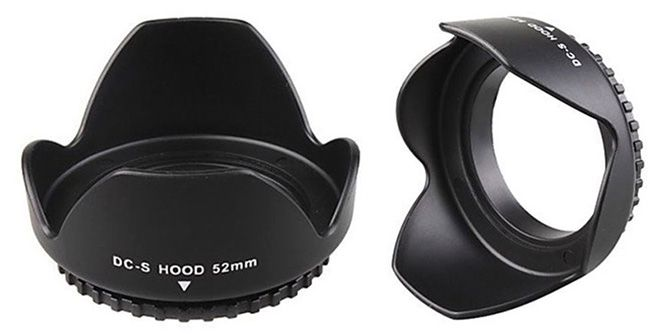 52mm Universal Gegenlichtblende für 2,79€   für Canon, Nikon, Pentax, Sony uvm.