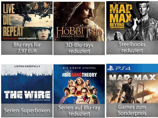 7 tage DVD Aktion 7 Tage Schnäppchen: Filme & Games   DVD + Blu ray + Games Angebote der Woche @ Amazon
