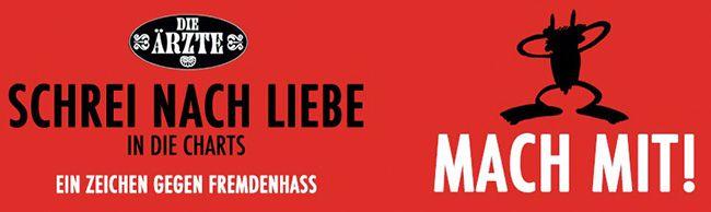 """Aktion Arschloch Gute Sache! Die Ärzte """"Schrei nach Liebe"""" für 0,99€ downloaden   Spendenaktion für Flüchtlinge!"""