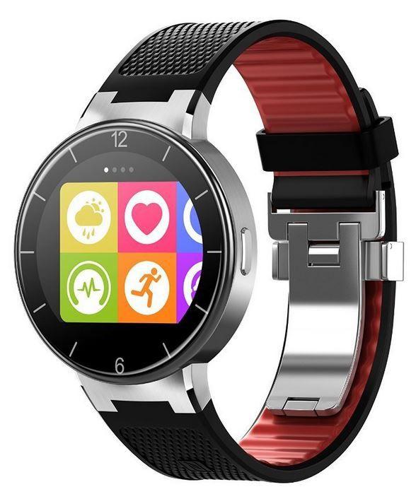 Alcatel Onetouch Smartwatch mit langem Armband schwarz rot für nur 85,54€