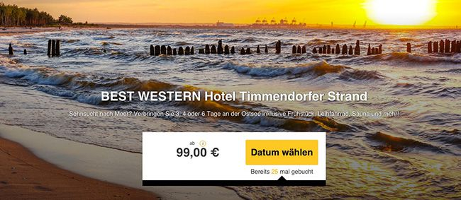 3 6 Tage Ostsee im 4 Sterne Hotel mit Frühstück und vielen Extras ab 99€ p.P.
