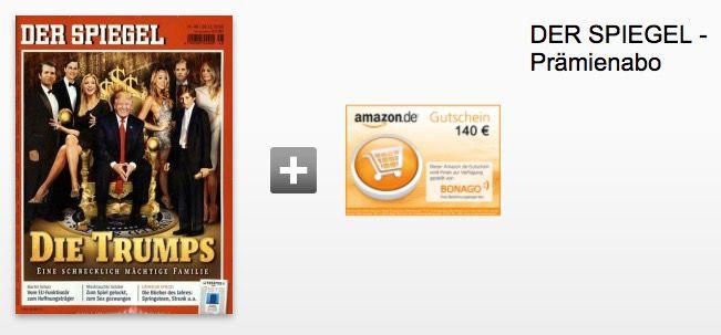 Der Spiegel   Jahresabo für effektiv 109,10€ (statt 249€)