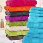 """10-teiliges Handtuch Set """"Vanessa"""" mit abgesetzter Bordüre für 22,94€"""