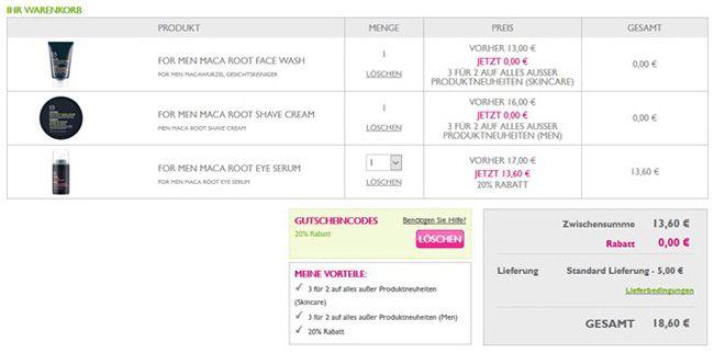 Body Shop Warenkorb Schnell! Rabattfehler bei The Body Shop + 20% Gutschein