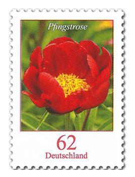 100x Briefmarken Pfingstrose á 62 Cent für 51,90€