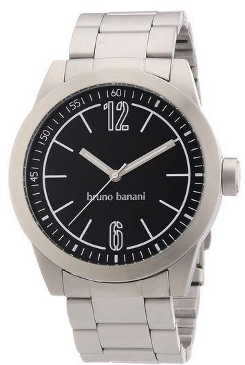 Bruno Banani Herren Armbanduhr Bruno Banani BR21113 TARAS GENTS   Edelstahl Herren Uhr mit Mineralglas für nur 19,99€