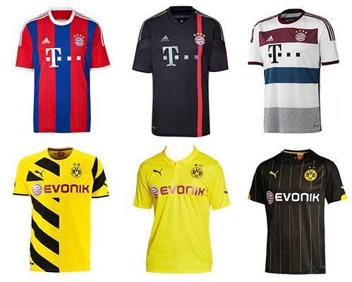 Bundesliga Trikots Bundesliga Trikots 14/15 für 29,95€   verschiedene Vereine verfügbar
