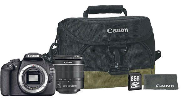 Canon EOS 1200D 18 55 Canon EOS 1200D 18 55mm + Tasche + 8GB Speicherkarte für 299€ (statt 345€)