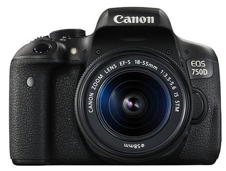 Canon EOS 750D Canon EOS 750D Full HD Kamera + 18 55mm IS STM für 599€