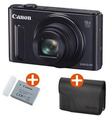 Canon PowerShot SX610 HS1 Canon PowerShot SX610 HS mit Zusatzakku und Kameratasche für 159€