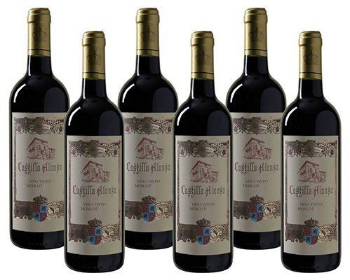 6 Flaschen Castillo Alonso Merlot Rotwein für 19,95€