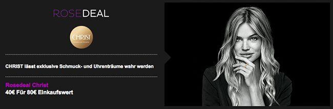 Christ Gutschein 80€ Christ Gutschein für 40€ bei vente privee