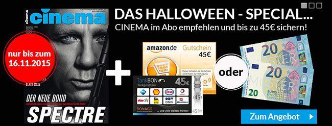 Cinema Jahresabo CINEMA Jahresabo für effektiv 10,20€ dank 45€ Gutscheinprämie