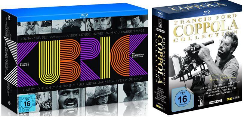 Francis Ford Coppola Collection für 44,97€ oder Stanley Kubrick   The Masterpiece Collection [Blu ray] für 49,97€