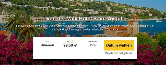 3 bis 7 Tage Côte dAzur mit Halbpension im 3 Sterne Hotel ab 99,50€ p.P.